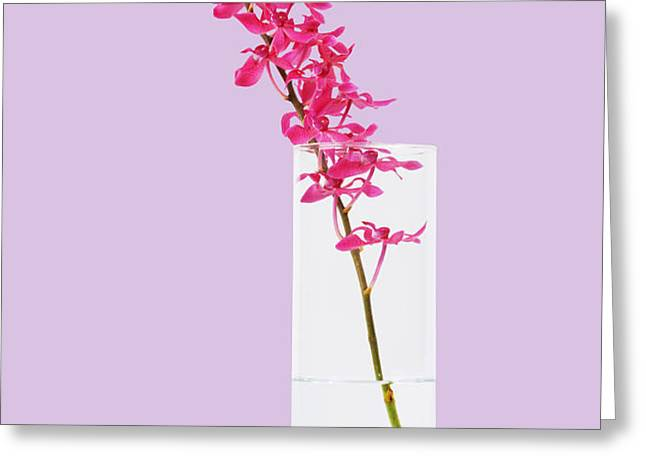 red orchid bunch Greeting Card by ATIKETTA SANGASAENG