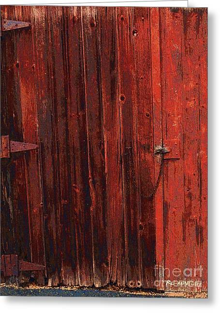 Shed Digital Art Greeting Cards - Red Shed Greeting Card by RC DeWinter