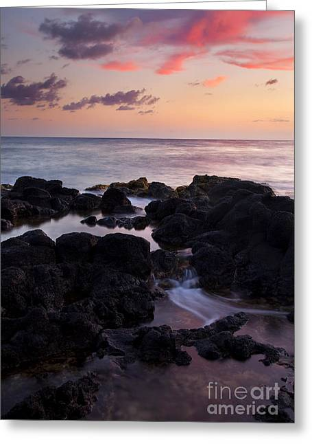 Poipu Greeting Cards - Red Tides Greeting Card by Mike  Dawson