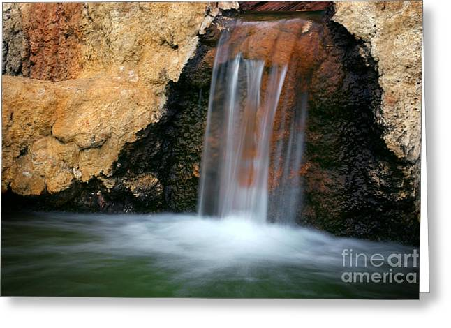 Autumn Scenes Greeting Cards - Red Waterfall Greeting Card by Carlos Caetano
