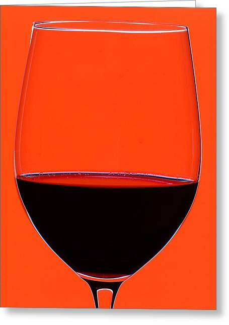 Red Art Greeting Cards - Red Wine Glass Greeting Card by Frank Tschakert