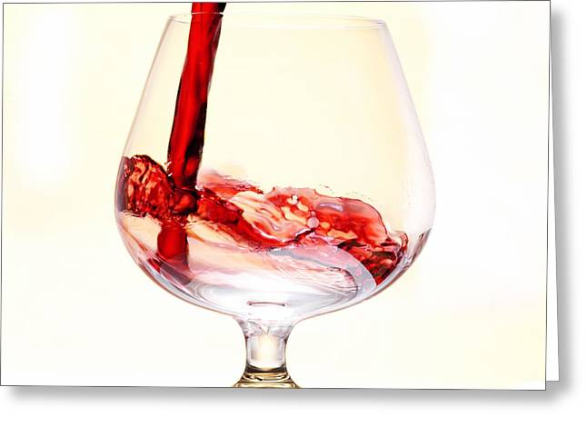 Red Wine Greeting Card by Michal Boubin