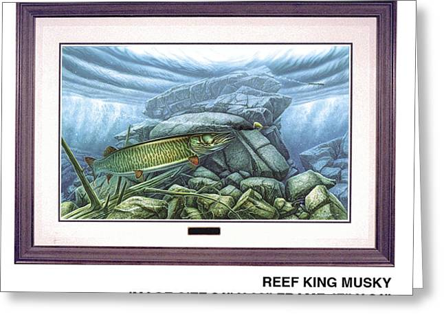 Bobber Greeting Cards - Reef King Musky Greeting Card by JQ Licensing