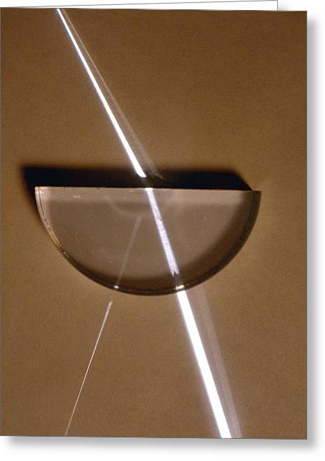 Glass Reflecting Greeting Cards - Refraction Greeting Card by Andrew Lambert Photography