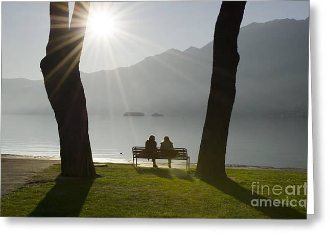 Two Persons Greeting Cards - Relaxing moment Greeting Card by Mats Silvan