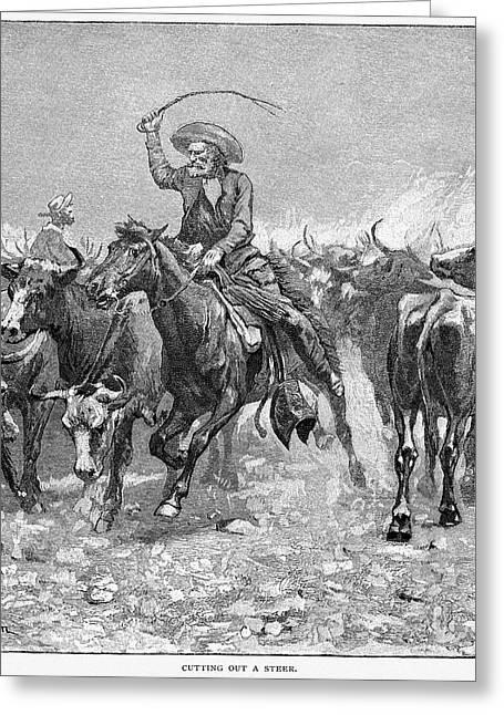 Remington Photographs Greeting Cards - Remington: Cowboys, 1888 Greeting Card by Granger