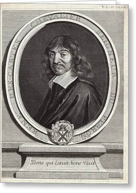 Captions Greeting Cards - Rene Descartes, French Mathematician Greeting Card by Humanities & Social Sciences Librarynew York Public Library