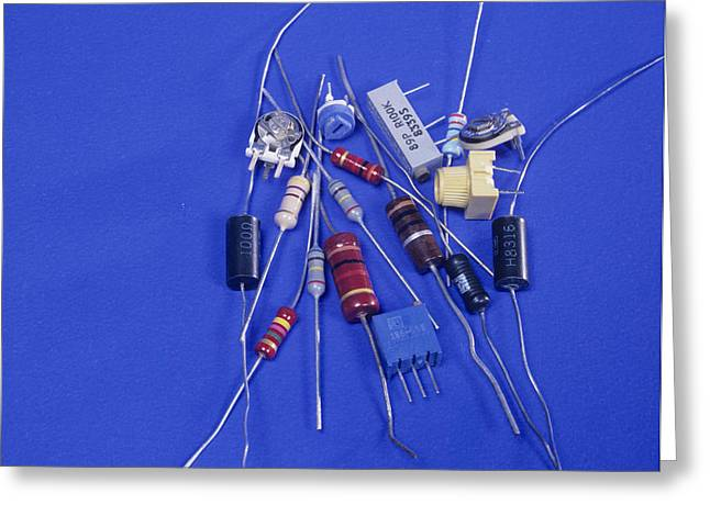 Electronic Resistance Greeting Cards - Resistors Greeting Card by Andrew Lambert Photography