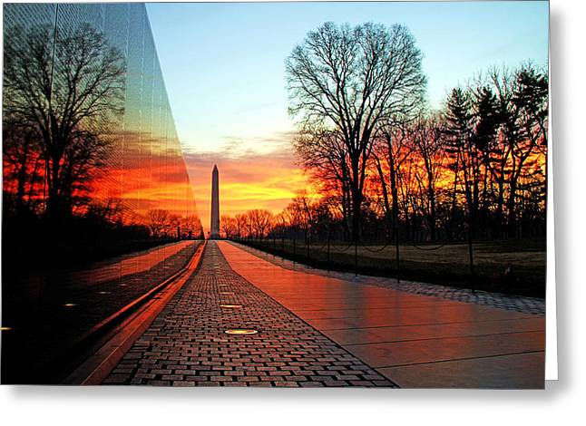 Monument Photographs Greeting Cards - Resolve Greeting Card by Mitch Cat