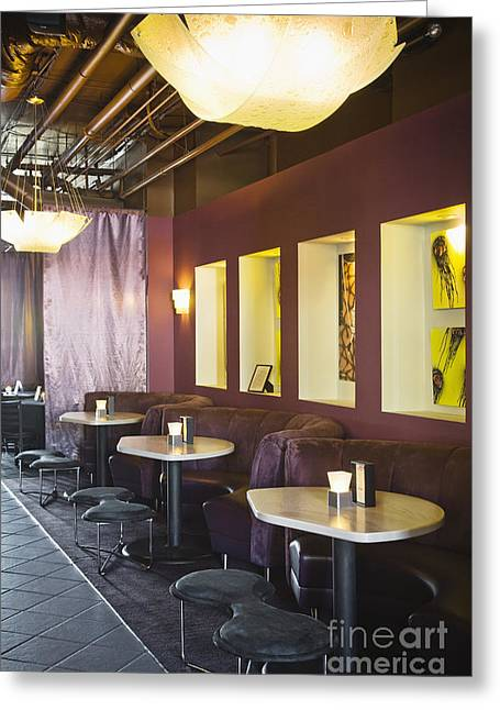 Seattle Taverns Greeting Cards - Restaurant Bar Seating Greeting Card by Andersen Ross