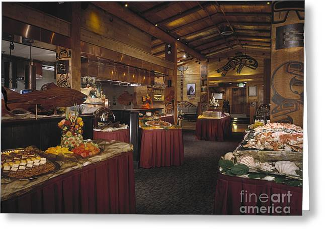 Inside You Greeting Cards - Restaurant Greeting Card by Robert Pisano