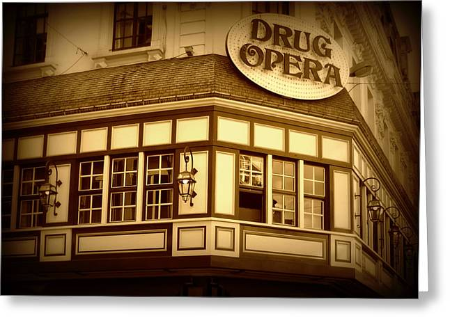 European Cafes Greeting Cards - Restaurant Sign in Brussels Greeting Card by Carol Groenen