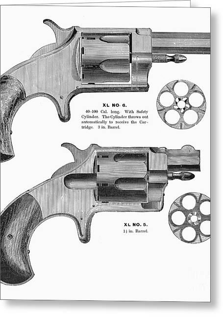 1880s Photographs Greeting Cards - REVOLVERS, 19th CENTURY Greeting Card by Granger