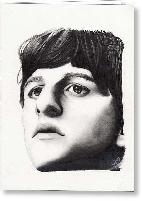 Ringo Starr Drawings Greeting Cards - Ringo Starr Greeting Card by Rosalinda Markle