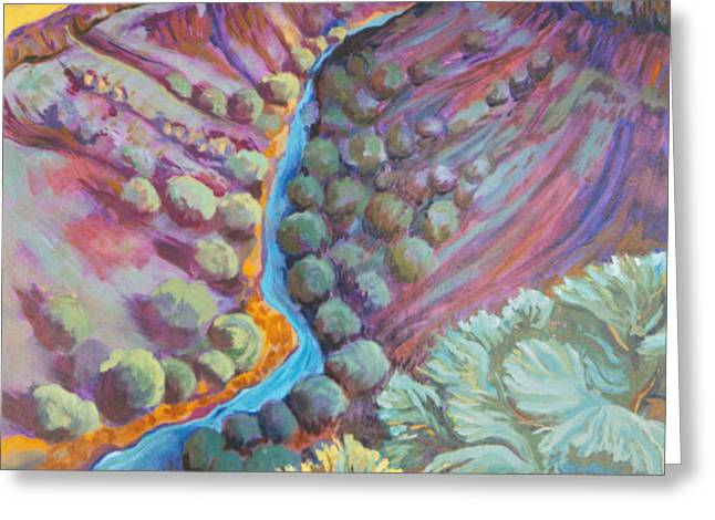 Rio Grande in September Greeting Card by Gina Grundemann