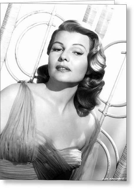 Rita Hayworth Greeting Cards - Rita Hayworth (1918-1987) Greeting Card by Granger