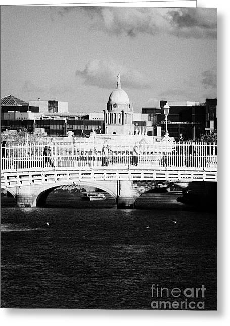 River Liffey Dublin City Center Greeting Card by Joe Fox