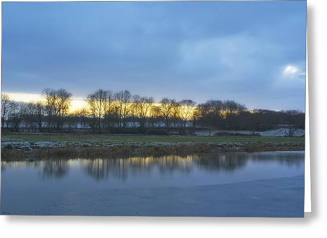 Sudbury River. Greeting Cards - River Stour In Winter Greeting Card by Michael Stretton