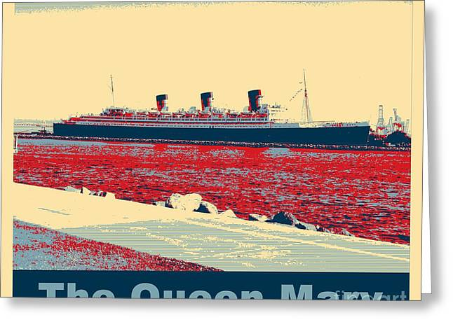 Retired Number Digital Art Greeting Cards - RMS Queen Mary Greeting Card by RJ Aguilar