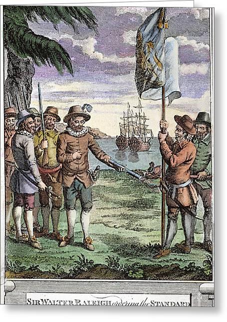 Roanoke Island Greeting Cards - Roanoke Founding, 1587 Greeting Card by Granger