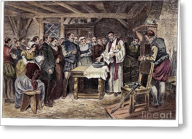 Roanoke Island Greeting Cards - Roanoke: Virginia Dare, 1587 Greeting Card by Granger