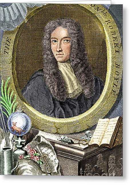 Boyle Greeting Cards - Robert Boyle, Irish Chemist Greeting Card by Science Source