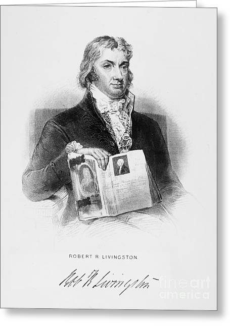 Financiers Greeting Cards - Robert R. Livingston Greeting Card by Granger