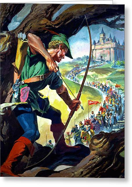Nottingham Greeting Cards - Robin Hood Greeting Card by James Edwin McConnell