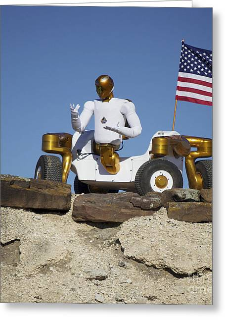 Dexterity Greeting Cards - Robonaut 2 Poses Atop Its New Wheeled Greeting Card by Stocktrek Images