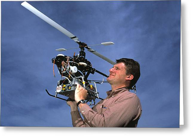 Automated Greeting Cards - Robotic Helicopter Greeting Card by Volker Steger