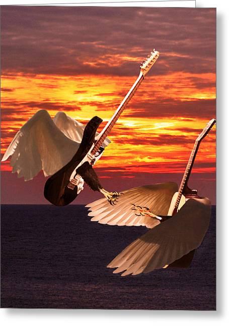 Rock Guitar Edge Greeting Card by Eric Kempson