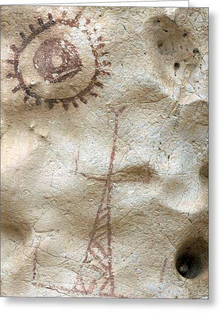 Anthropological Art Greeting Cards - Rock Painting, Timor-leste Greeting Card by Louise Murray