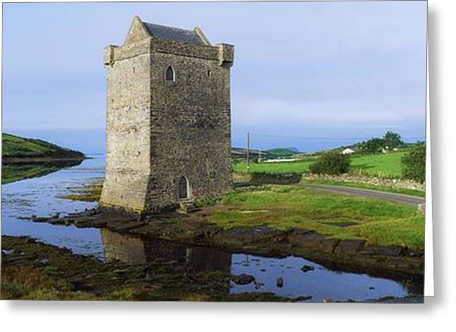 Ocean Panorama Greeting Cards - Rockfleet Castle, Clew Bay, Co Mayo Greeting Card by The Irish Image Collection