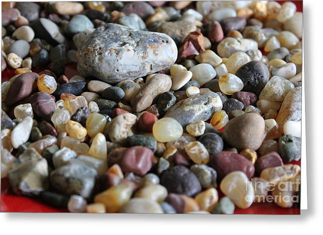 Agate Beach Greeting Cards - Rocks Greeting Card by Allen Sindlinger