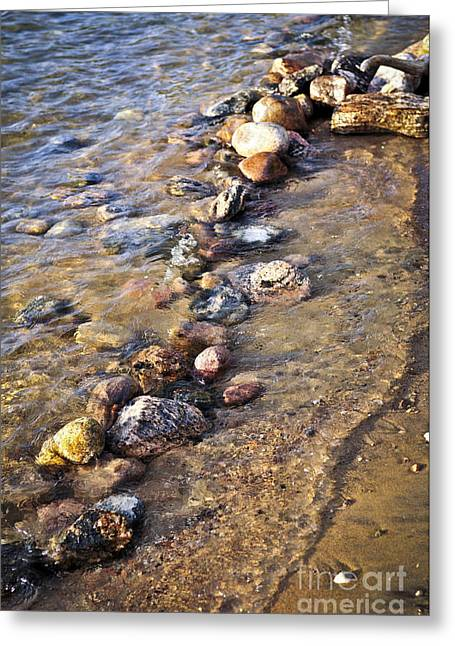 Georgian Bay Greeting Cards - Rocks in water Greeting Card by Elena Elisseeva