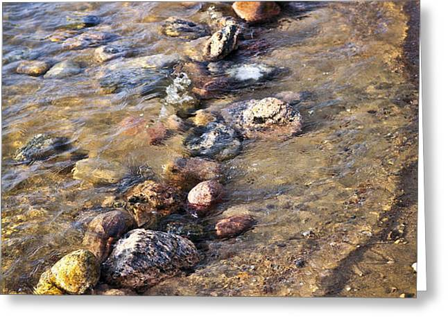 Rocks in water Greeting Card by Elena Elisseeva