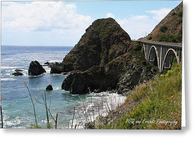 Pfeiffer Beach Greeting Cards - Rocky Creek Bridge Greeting Card by PJQandFriends Photography