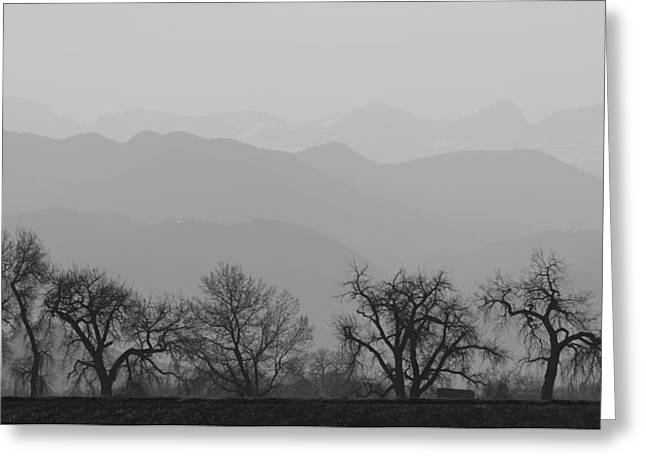 """landscape Photography Prints"" Greeting Cards - Rocky Mountain Haze Panorama Greeting Card by James BO  Insogna"