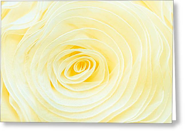 White Cloth Greeting Cards - Rolled fabric Greeting Card by Tom Gowanlock
