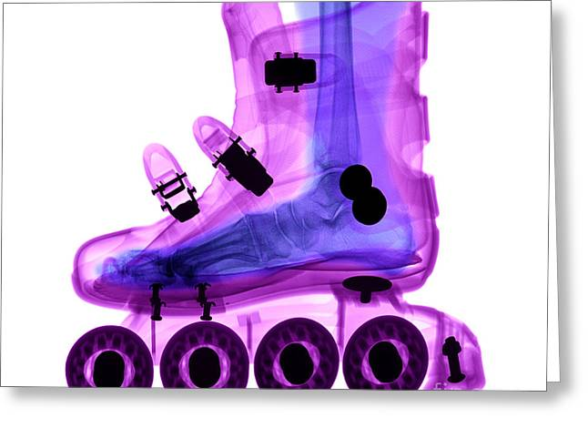 Rollerskate Greeting Cards - Rollerblade Boot Greeting Card by Ted Kinsman