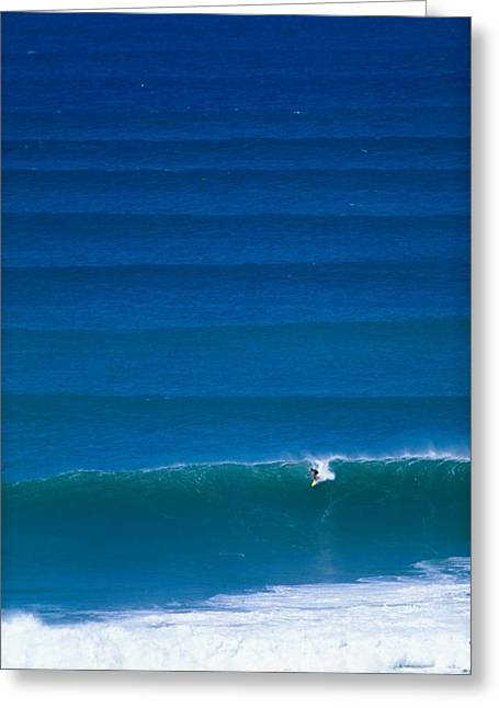 Surfing Art Greeting Cards - Rolling Waves Greeting Card by Vince Cavataio - Printscapes