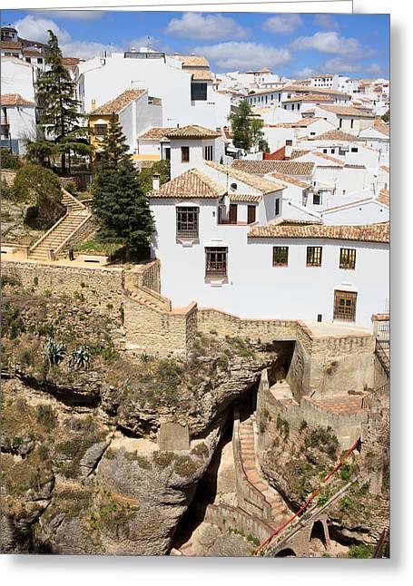 Pueblo Blanco Greeting Cards - Ronda Town in Andalucia Greeting Card by Artur Bogacki