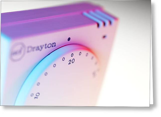 Thermostat Greeting Cards - Room Thermostat Greeting Card by Tek Image