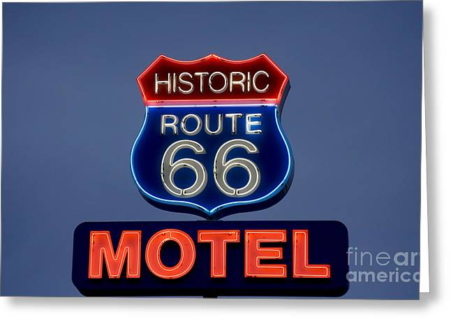 Highsmith Greeting Cards - Route 66 Motel, 2006 Greeting Card by Granger