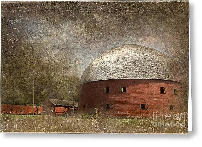 Historical Buildings Digital Art Greeting Cards - Route 66 Round Barn Greeting Card by Betty LaRue