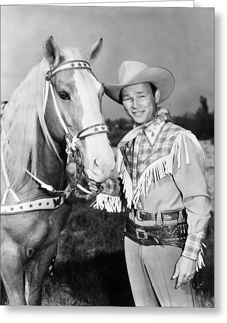 20th Century Greeting Cards - Roy Rogers Greeting Card by Granger