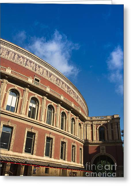 Outdoor Theater Greeting Cards - Royal Albert Hall Greeting Card by Andrew  Michael