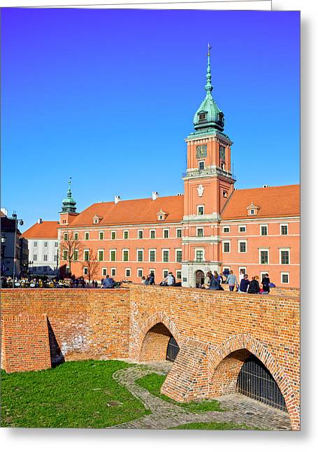 Best Sellers -  - Polish Culture Greeting Cards - Royal Castle in Warsaw Greeting Card by Artur Bogacki