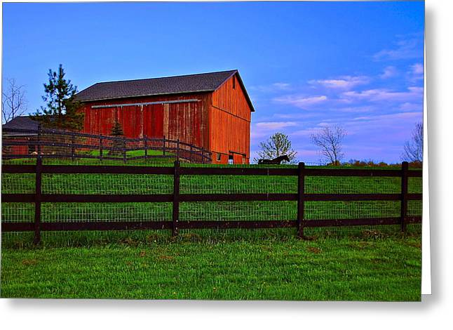 Pig Photos Greeting Cards - Rural Living Greeting Card by Frozen in Time Fine Art Photography