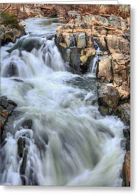 Great Falls Greeting Cards - Rush Hour Greeting Card by JC Findley